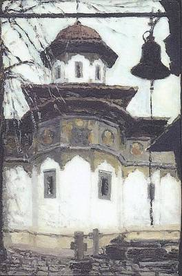 Painting - Stavropoleos Church by Olimpia - Hinamatsuri Barbu