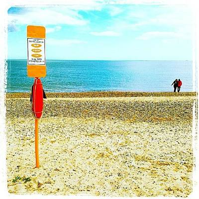Norfolk Wall Art - Photograph - Stay Safe On The Beach #beach #sand by Invisible Man