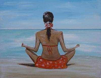 Painting - Staying Calm by Leslie Allen