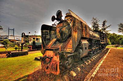 Photograph - Steam Engine by Charuhas Images