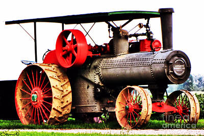 Photograph - Steam Engine Tractor  by September  Stone