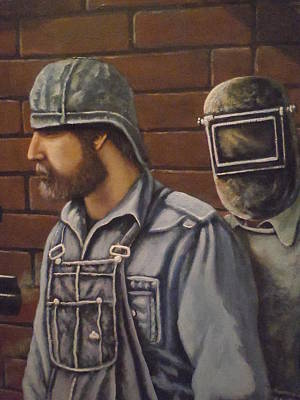 Art Print featuring the painting Steam Fitter And Welder by James Guentner