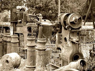 Steam Junkyard Art Print by Roberto Alamino