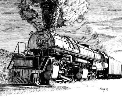 Yellowstone Drawing - Steam Power by Douglas Hawks