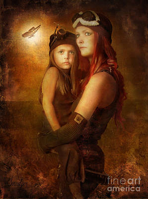 Book Of James Digital Art - Steam Punk - Mother And Child by Eugene James