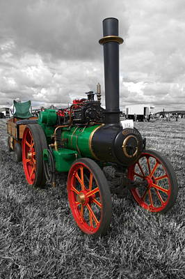 Photograph - Steam Tractor. by Chris Day