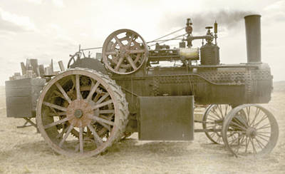 Steam Tractor Art Print by Kevin Felts
