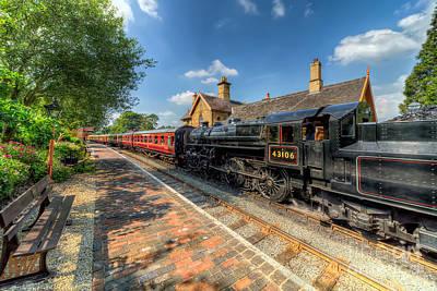 Steam Train Print by Adrian Evans