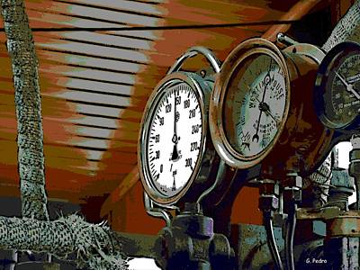 Photograph - Steam Train Gauges by George Pedro