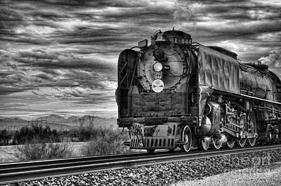 Steam Train No 844 - Iv Art Print by Donna Greene
