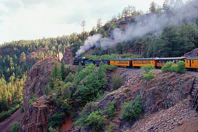 Photograph - Steam Train On Narrow Gauge by John Brink
