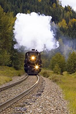 Travel - Steam Train On Tracks by Carson Ganci