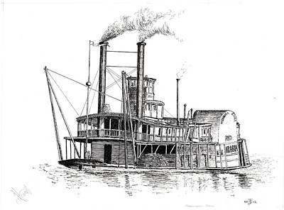 Steamboat Bill   The Arabia Art Print by John Simlett