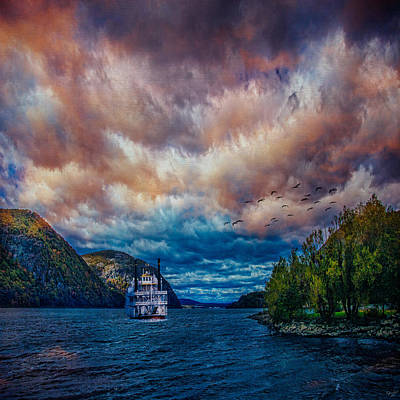 Photograph - Steamboat On The Hudson River by Chris Lord