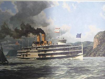 Steamer Alexander Hamilton William G Muller Art Print by Jake Hartz