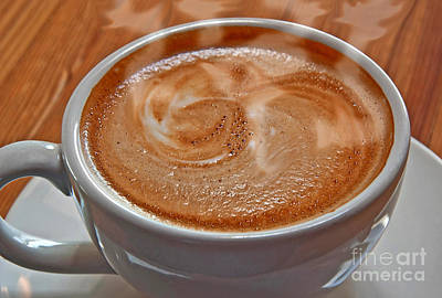 Photograph - Steaming Hot Latte by Valerie Garner