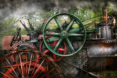 Steampunk - Machine - Transportation Of The Future Art Print by Mike Savad