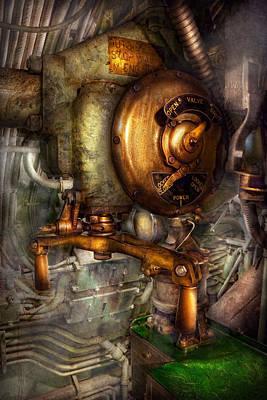 Steampunk - Naval - Shut The Valve  Print by Mike Savad