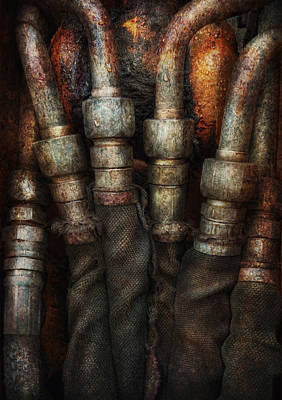 Steampunk - Pipes Art Print by Mike Savad