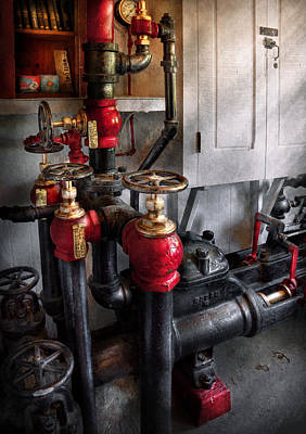 Victorian Photograph - Steampunk - Plumbing - Turn The Valve  by Mike Savad
