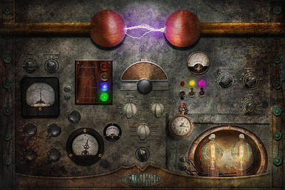Suburbanscenes Digital Art - Steampunk - The Modulator by Mike Savad