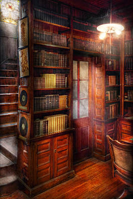 Steampunk - The Semi-private Study  Art Print by Mike Savad