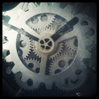 Steampunk Photograph - #steampunk #gears #clock #webstagram by KLH Streets Photography
