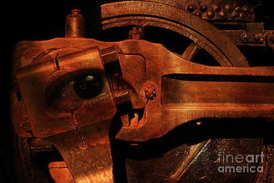 Steampunk Part Number 93063 Ghost In The Machine Print by Wingsdomain Art and Photography