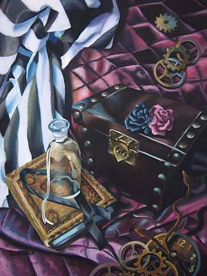 Painting - Steampunk Still Life by Lori Keilwitz