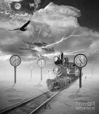 Manipulation Photograph - Steampunk Traveler by Keith Kapple
