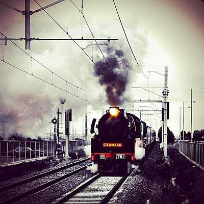 Victorian Wall Art - Photograph - Steamrail R 761 by Nicole Spillane
