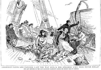 Steamship: Deck, 1886 Art Print