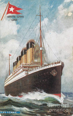 Steamship Titanic Art Print by Photo Researchers