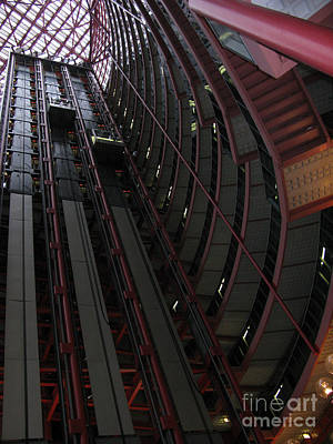 Jolly Old Saint Nick - Steel and Glass Chicago by Ausra Huntington nee Paulauskaite