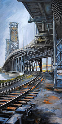 Painting - Steel Bridge 2012 by Chris Steinken