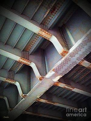 Photograph - Steel Bridge by Eena Bo