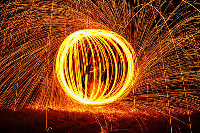 Sparks Photograph - steel II by Michael Ludlum