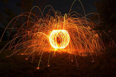 Sparks Photograph - Steel by Michael Ludlum