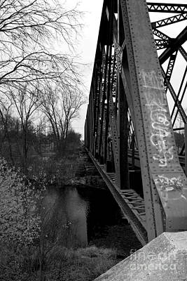 Photograph - Steel Train Bridge by Ms Judi