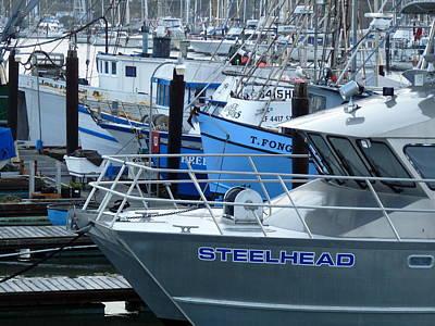 Photograph - Steelhead And Fishing Boats by Jeff Lowe