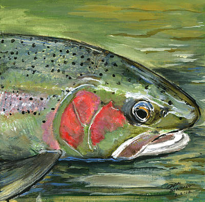 Painting - Steelhead  by Sara Stevenson