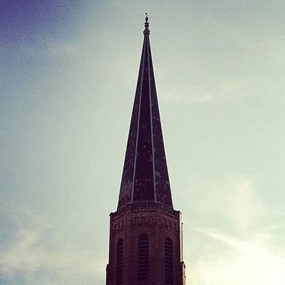Angle Photograph - #steeple #sky #view #angle #points by Jenna Luehrsen