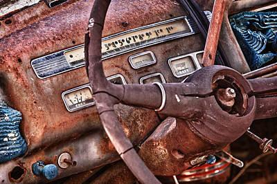 Steering Wheel Art Print by Richard Steinberger