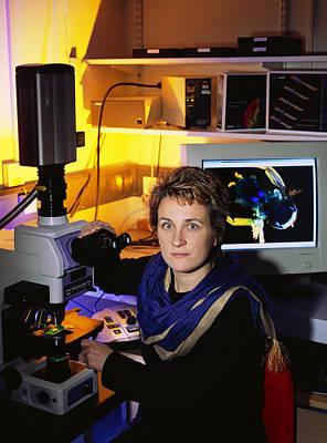 Stefanie Reichelt, Cell Biologist Art Print by Volker Steger