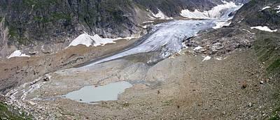 Stein Photograph - Stein Glacier, Switzerland by Dr Juerg Alean