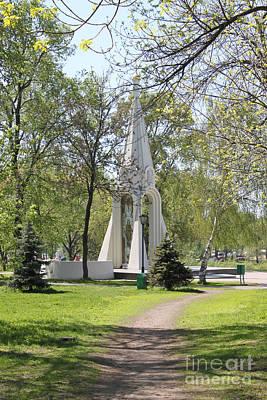 Stela In Park Original by Evgeny Pisarev