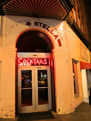 Stella Cocktail Bar At Night Art Print by Kym Backland