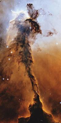 Eagle Nebula Photograph - Stellar Spire Region Of Eagle Nebula Star Formation by StockTrek