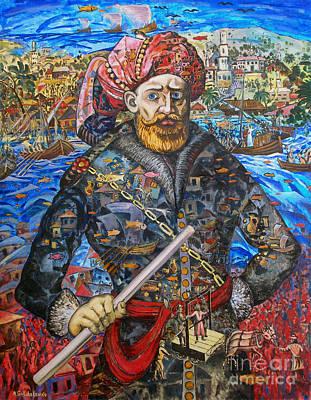 Stepan Razin Charming Letters  Art Print by Andrey Soldatenko