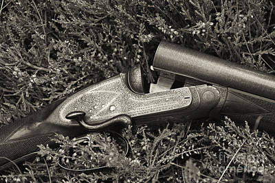 Photograph - Stephen Grant And Sons Side Lever Twelve Bore - D003359-bw by Daniel Dempster